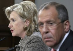 Hillary Clinton and Sergey Lavrov meet in Moscow