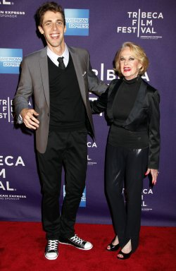 "Tippi Hedren and Jay Gammill arrive for the Tribeca Film Festival Premiere of ""Free Samples"" in New York"