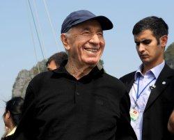 File Photo of Israeli Leader Shimon Peres In Vietnam