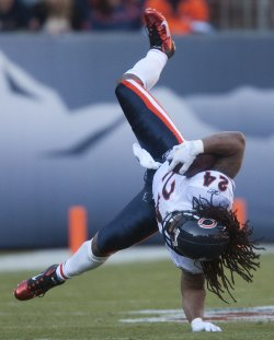 Bears Barber Upended Against the Broncos in Denver