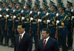 Jordanian King attends welcoming ceremony in Beijing