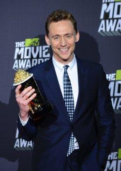 Tom Hiddleston garners Best Villain award at 2013 MTV Movie Awards in Culver City, California