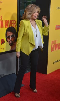 "Raquel Welch attends the ""How to Be a Latin Lover"" premiere in Los Angeles"