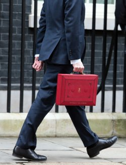 George Osborne prepares to deliver the Budget.