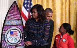Obama Welcomes USA Olympic Team to the White House