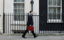 George Osborne presents his Budget at No.11 Downing St