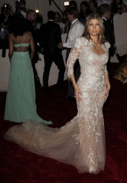Fergie arrives at the Costume Institute Gala Benefit in New York