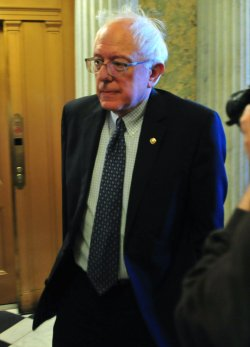 Sen. Bernard Sanders arrives to vote on cloture on H.R 4853 (Middle Class Tax Relief Act of 2010) in Washington