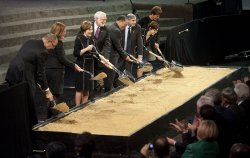 Ground breaking ceremony for the Smithsonian National Museum of African American History and Culture in Washington