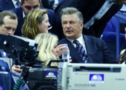 Alec Baldwin attends the US Open Tennis Championships