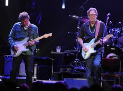 Eric Clapton and Steve Winwood perform in London