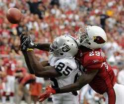 Cardinals Dominique Rodgers-Cromartie breaks up a pass in Arizona