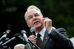 Rep. Tom Price (R-GA) speaks out against Obama's health care plan at a rally in Washington
