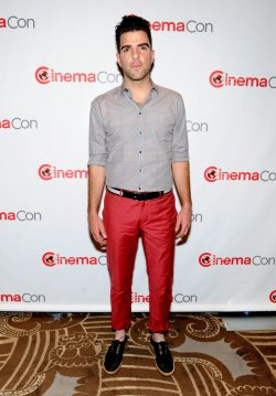 Zachary Quinto arrives at the 2013 CinemaCon in Las Vegas