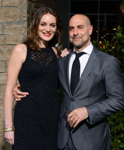 """Stanley Tucci and Felicity Blunt attend """"Jack the Giant Slayer"""" premiere in Los Angeles"""