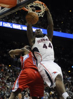 The Atlanta Hawks play the Los Angeles Clippers in Atlanta