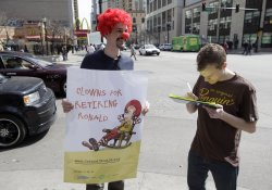 Nugent petitions against Ronald McDonald in Chicago