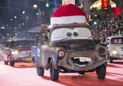 """A truck from """"Cars"""" is seen in the 84th Annual Hollywood Christmas Parade in Los Angeles"""