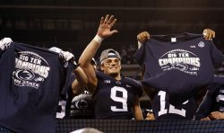 Penn State Trace McSorley (9)in the Big 10 Championship