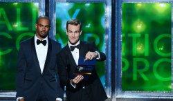 Damon Wayans Jr. and James Van Der Beek attend the 64th Primetime Emmy Awards in Los Angeles