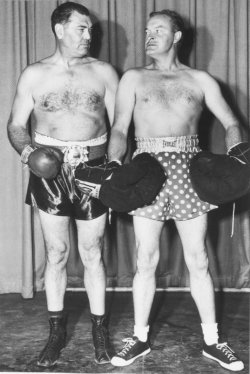 Bob Hope is ready to take on Jack Dempsey for a TV skit