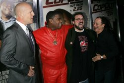 """Bruce Willis, Tracy Morgan, Kevin Smith and Kevin Pollak arrive for the """"Cop Out"""" Premiere in New York"""
