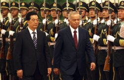Uzbekistan's Presidentt attends welcoming ceremony in Beijing