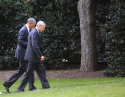 Obama at Pentagon to meet with Military Chiefs