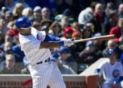 Cubs' Byrd Hits RBI Single against Nationals on Opening Day in Chicago