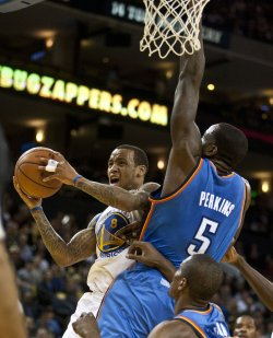 Golden State Warriors vs Oklahoma City Thunder in Oakland, California