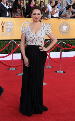 Actress Maya Rudolph arrives at the 18th annual Screen Actors Guild Awards in Los Angeles