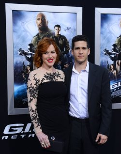 "Molly Ringwald and Panio Gianopoulos attend the ""G.I Joe: Retaliation"" premiere in Los Angeles"