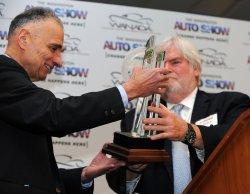 Ralph Nader receives Keith Crain/Automotive News Lifetime Achievement Award at Washington Auto Show