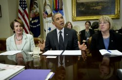 Obama Meets Women Members of Congress in Washington