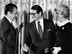 Elliot Richardson is sworn in as Pres. Nixon's Attorney General