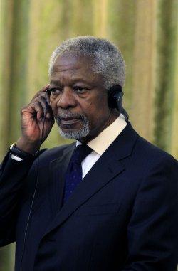 UN-Arab league envoy Kofi Annan in Tehran for Talks