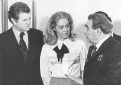 Ted Kennedy meets with family at the Kremlin with Leonid Brezhnev
