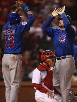 Chicago Cubs Jake Fox hits two run home run