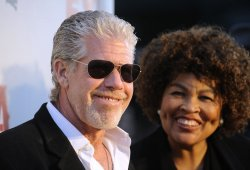 Ron Perlman and wife Opal attend the Sons of Anarchy, Season 4 premiere screening in the Hollywood