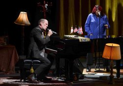 Hugh Laurie performs live in London