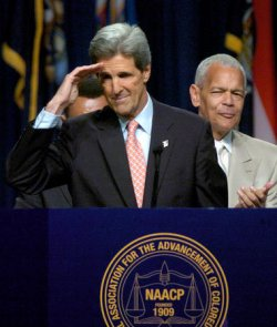JOHN KERRY ADDRESSES NAACP CONVENTION
