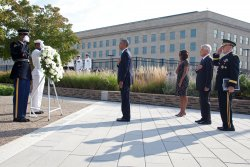 September 11 ceremonies at the Pentagon in Arlington, Virginia
