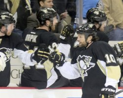 Pittsburgh Penguins Brenden Morrow Scores in Pittsburgh