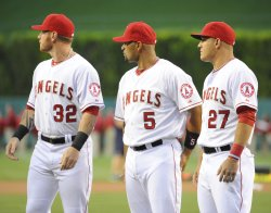 Los Angeles Angels vs Seattle Mariners in Anaheim, California