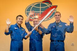 The Olympic Tourch Returns from Space in Kazakhstan