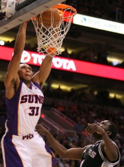 NBA San Antonio Spurs vs Phoenix Suns in Phoenix