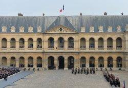 Ceremony honoring victims of recent terrorist attacks in Paris