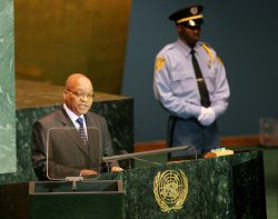 South Africa President Zuma addresses the General Assembly at United Nations