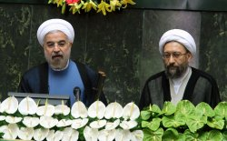 Iran's new President Hassan Rohani takes oath of office