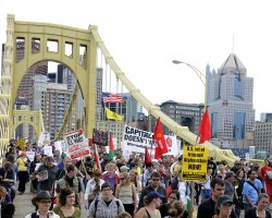 """The People's March to the G20"" in Pittsburgh, Pennsylvania"